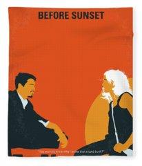 No1012 My Before Sunset Minimal Movie Poster Fleece Blanket