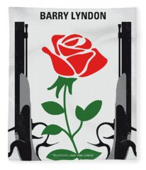 No1019 My Barry Lyndon Minimal Movie Poster Fleece Blanket
