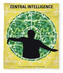 No1049 My Central Intelligence Minimal Movie Poster Fleece Blanket