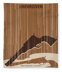 No1050 My Unforgiven Minimal Movie Poster Fleece Blanket