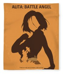 No1063 My Alita Battle Angel Minimal Movie Poster Fleece Blanket