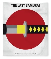 No980 My Last Samurai Minimal Movie Poster Fleece Blanket