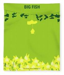 No993 My Big Fish Minimal Movie Poster Fleece Blanket