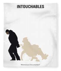 No994 My Intouchables Minimal Movie Poster Fleece Blanket