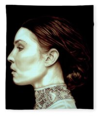 Noomi Rapace Fleece Blanket
