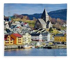 Nordlandet Church,  Kristiansund , Norway Fleece Blanket