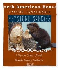North American Beaver Fleece Blanket