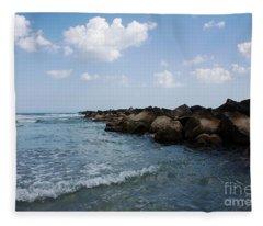 North Beach Jetty Fleece Blanket