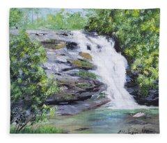 North Carolina Waterfall Fleece Blanket