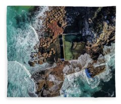 Fleece Blanket featuring the photograph North Curl Curl Headland And Pool by Chris Cousins