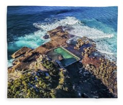 Fleece Blanket featuring the photograph North Curl Curl Headland by Chris Cousins