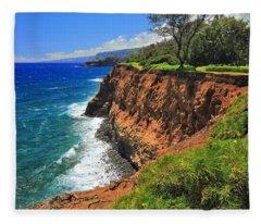 North Hawaii View Fleece Blanket