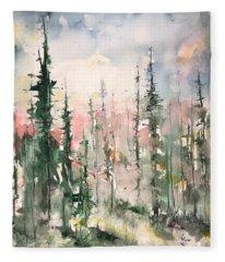 Northern Abstraction Fleece Blanket