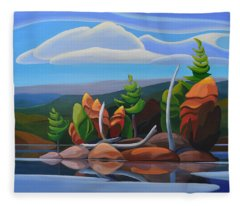 Northern Island II Fleece Blanket