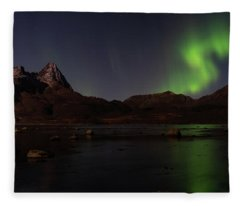 Northern Lights Aurora Borealis In Norway Fleece Blanket