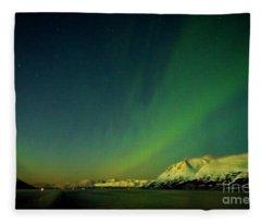Northern Lights In Norway Fleece Blanket