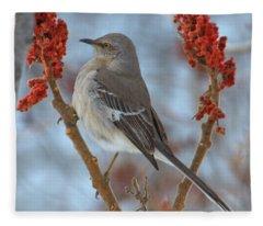 Northern Mockingbird Fleece Blanket