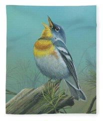 Northern Parula  Fleece Blanket