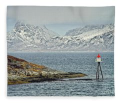 Norwegian Coast Around Bodo Fleece Blanket
