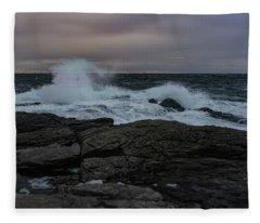 Norwegian Wild Waters Fleece Blanket