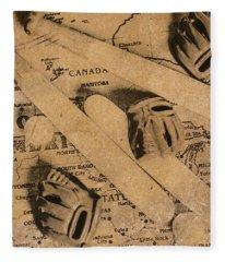Nostalgic Baseball Fleece Blanket