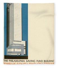 Nothing More Modern The Philadelphia Savings Fund Society Building, 1932 Fleece Blanket
