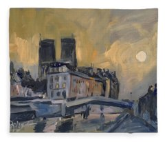 Notre Dame After Jongkind Fleece Blanket