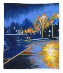 November Rain Fleece Blanket