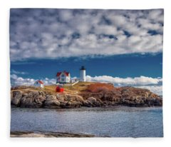 Nubble Lighthouse 7492 Fleece Blanket