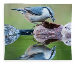 Nuthatch's Catch Fleece Blanket