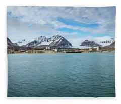 Ny Alesund Fleece Blanket