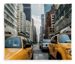 Ny Taxis Fleece Blanket