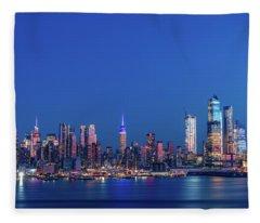 Nyc The Blue Hour Fleece Blanket