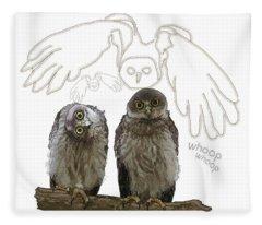 O Is For Owl Fleece Blanket