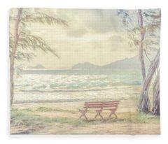 Oahu Morning 69x92 Fleece Blanket