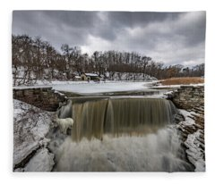 Oak Creek Parkway Waterfall Fleece Blanket