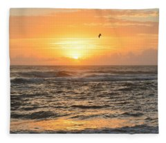 Obx Sunrise 9/17/2018 Fleece Blanket