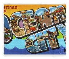 Ocean City Greetings Fleece Blanket