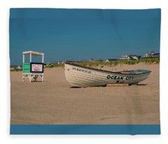 Ocean City Park Place Beach Fleece Blanket