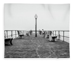 Ocean Grove Pier 1 Fleece Blanket