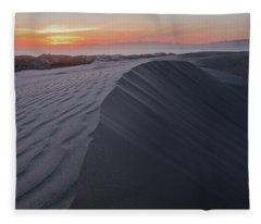 Oceano Dunes Sunset Fleece Blanket