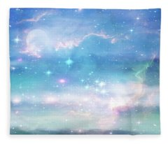 Oceans In The Heavens Fleece Blanket