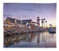 Oceanside Harbor Fleece Blanket