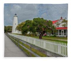 Ocracoke Lighthouse  Fleece Blanket