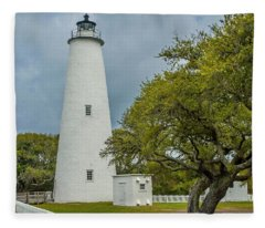 Ocracoke Lighthouse No 2 Fleece Blanket