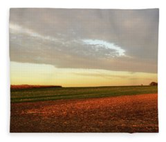 Autumn Field Fleece Blanket