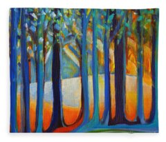 October Sunshine Fleece Blanket