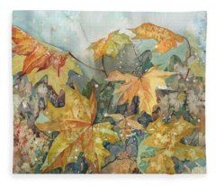 October Wind Fleece Blanket