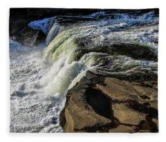 Ohiopyle Falls 1 Fleece Blanket