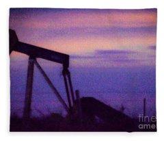 Oil Sunset Fleece Blanket